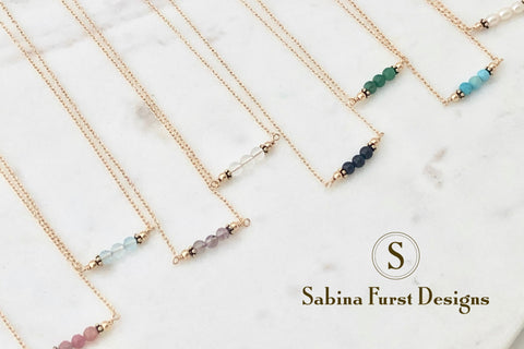 Bahamas Birthstone Bar Necklaces