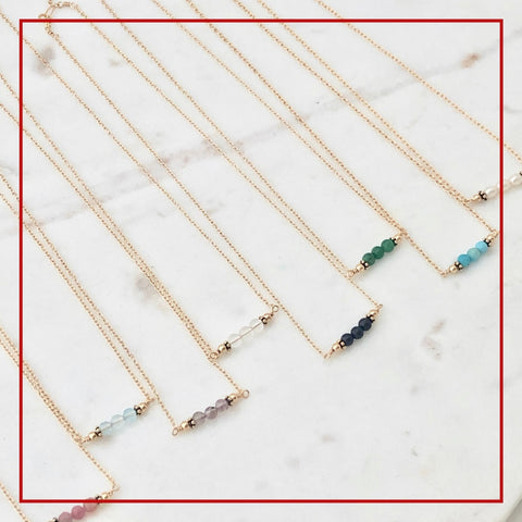 Bahama Birthstone Bar Necklace