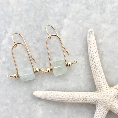 Sloane Square Earrings - aquamarine