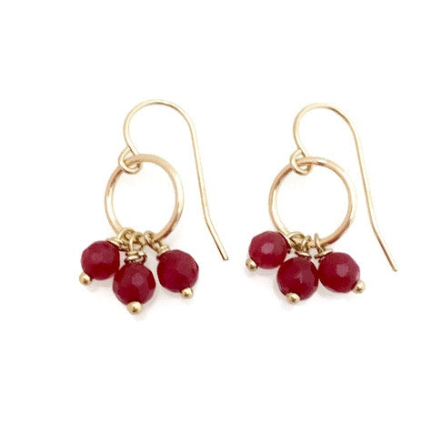 Amalfi Earrings - ruby,