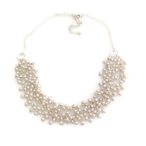 Triple Pearl Cluster Necklace