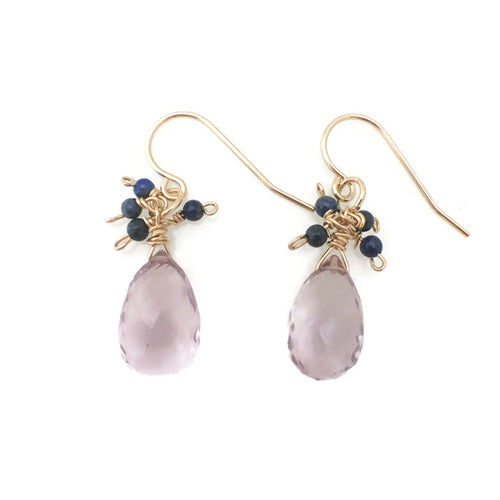 Lucca Cluster Earrings - amethyst