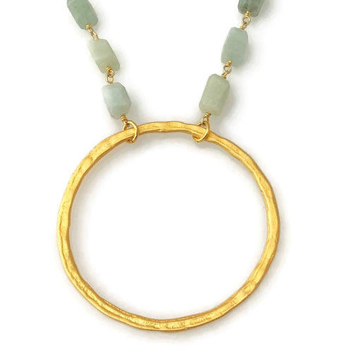 Osterville Organic Circle Necklace