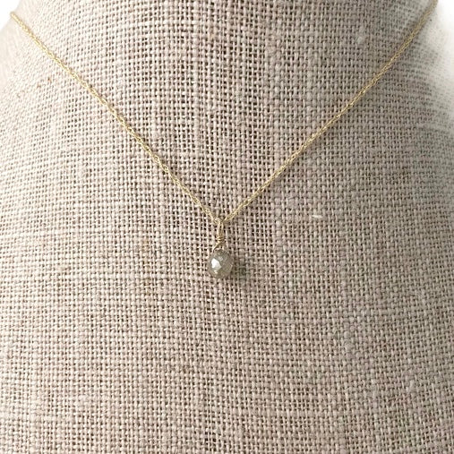 Monaco Diamond Drop Necklace