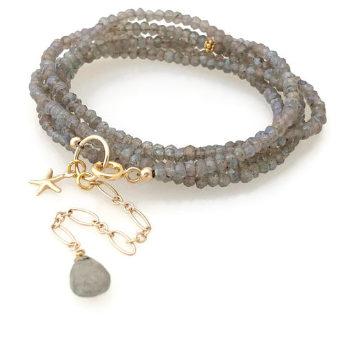 Manhattan Gemstone Wrap Bracelet - Two in One
