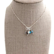Birthstone Charm Necklace - Silver