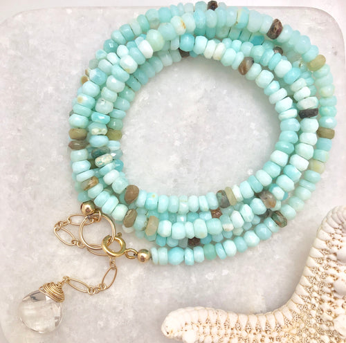 Captiva Two in One ~ chunky gemstone wrap