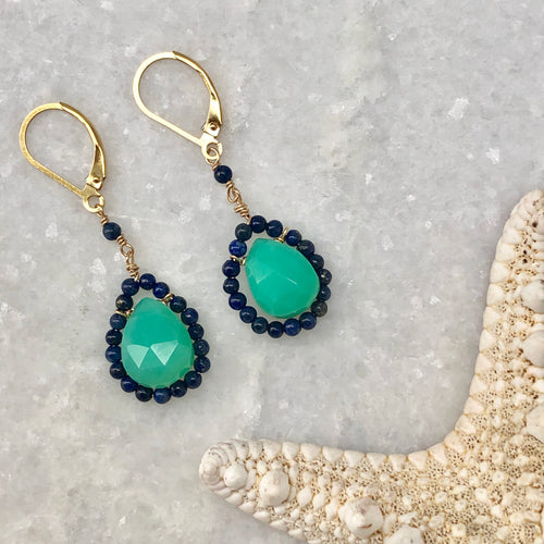 St. Lucia Framed Drop Earrings