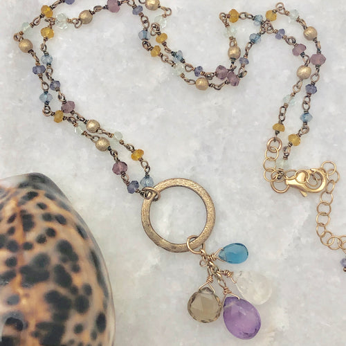 Amethyst & Mixed Gemstone Necklace