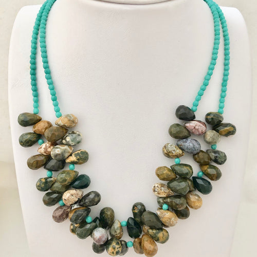 Jasper Bib Necklace