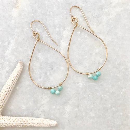 Captiva Teardrop Hoop Earrings
