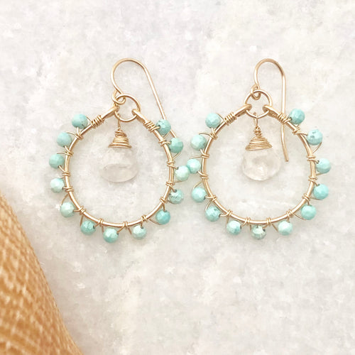 Captiva Moonstone Hoop Earrings