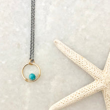 Circle Birthstone Charm Necklace