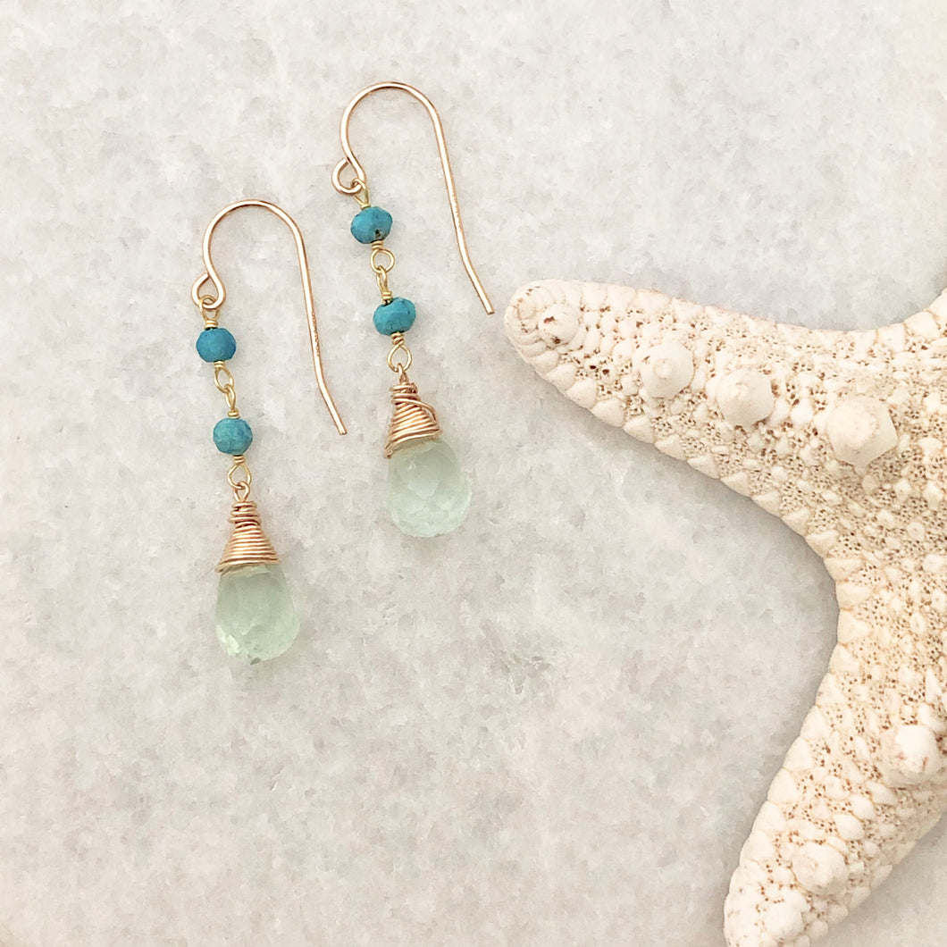 Mustique Fluorite Earrings