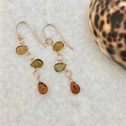 Autumn Tourmaline Earrings