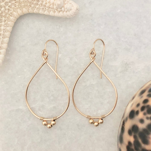Golden Teardrop Hoop Earrings
