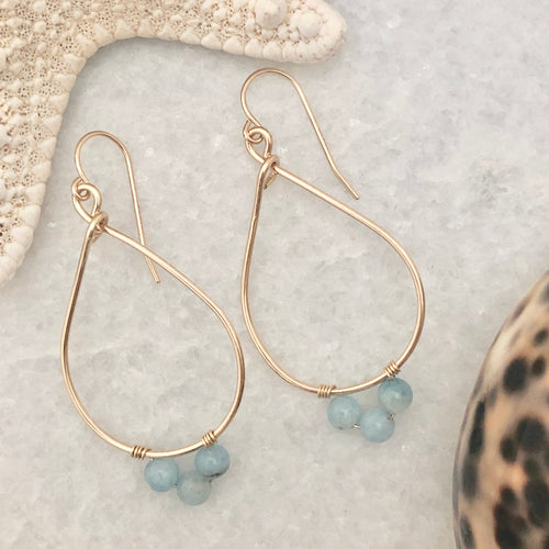 Newport Teardrop Hoop Earrings