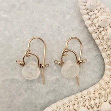 Santorini Earrings ~ Moonstone