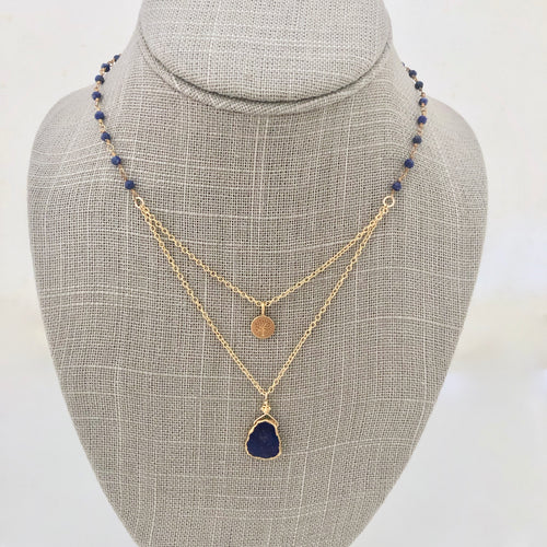Layered Necklace ~ lapis