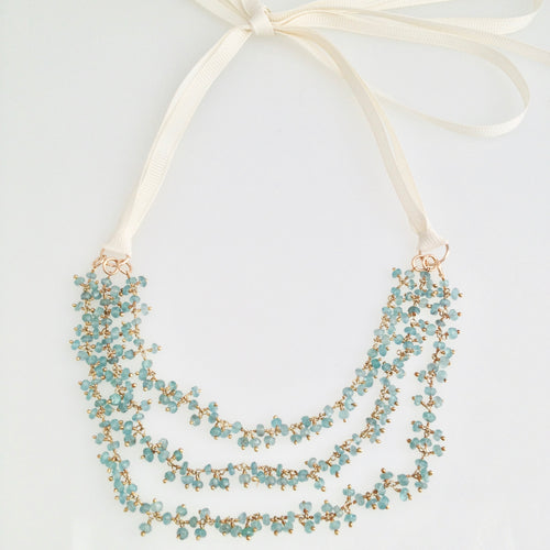Apatite Cluster Ribbon Necklace