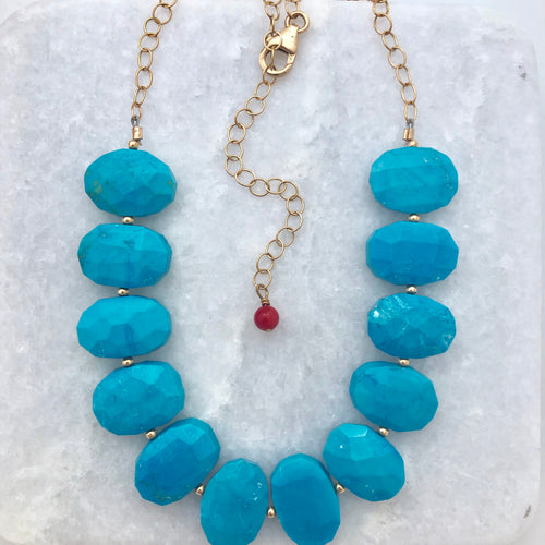 Turquoise Stepping Stones Necklace