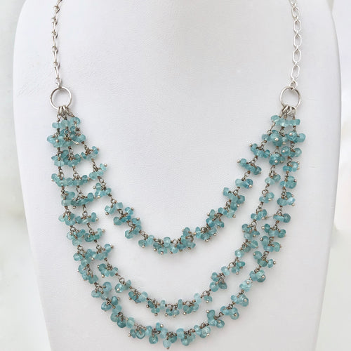 Apatite & Sterling Silver Necklace