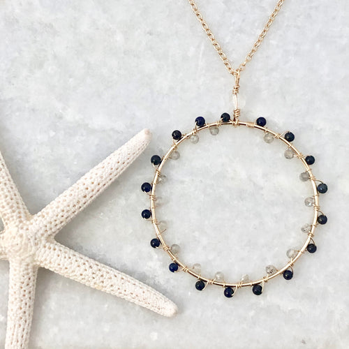 Zurich Zigzag Circle Necklace