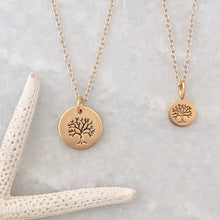 Big & little tree necklaces