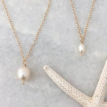Big & little simple pearl necklaces