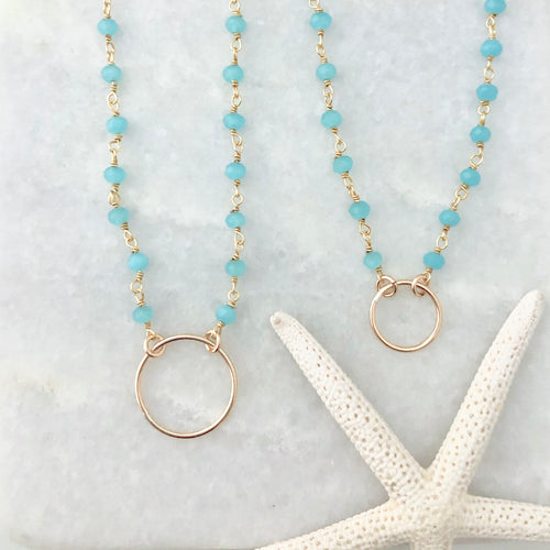 Big & little circle necklaces
