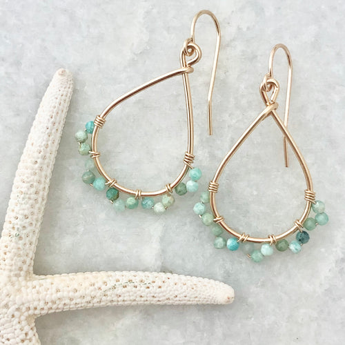 Jasmine Hoop Earrings - medium