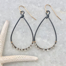 Kauai White Diamond Hoop Earrings