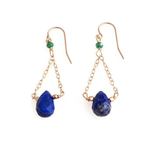 Lapis Hanger Earrings