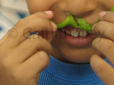 image of a child with a food mustache