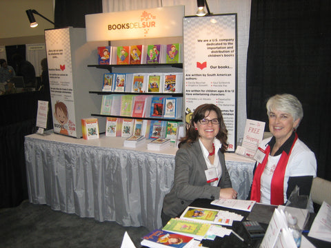Books del Sur Founder, Heather Robertson-Devine and her mom, Sandi Robertson at WEAC Convention 2010.