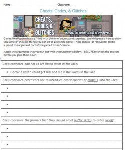 Citizen Science Student Sheet