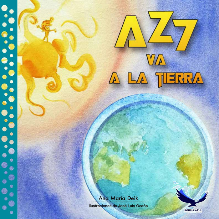 Book cover depicting an illustration of the planet earth and the sun
