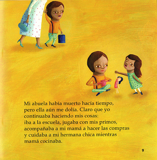 inside page illustrates two kids playing