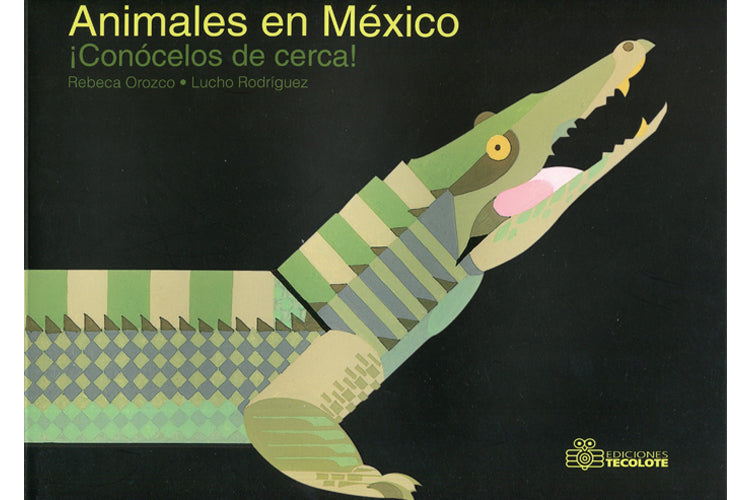 Book cover depicting a large illustration of a crocodile