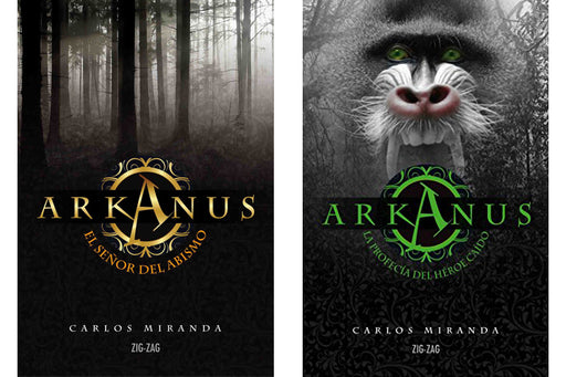 Two covers of the Arkanus books included in the set