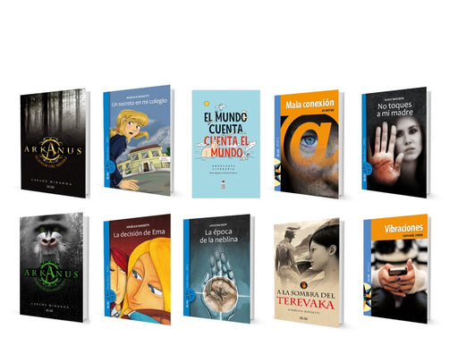 image of 10 different books