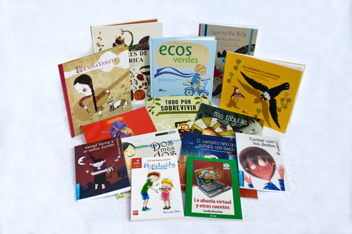 Photo depicting a set of different books for kids