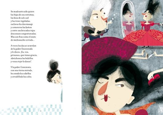 inside pages illustrates two evil stepsisters