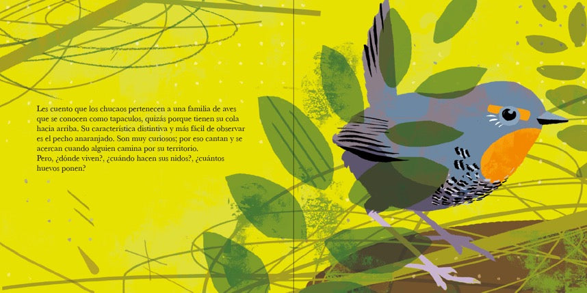 inside page shows a bird in leaves