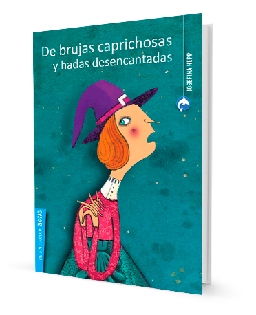 book with illustration of a clueless witch
