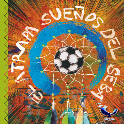 book cover depicting a dreamcatcher with a soccer ball in the middle