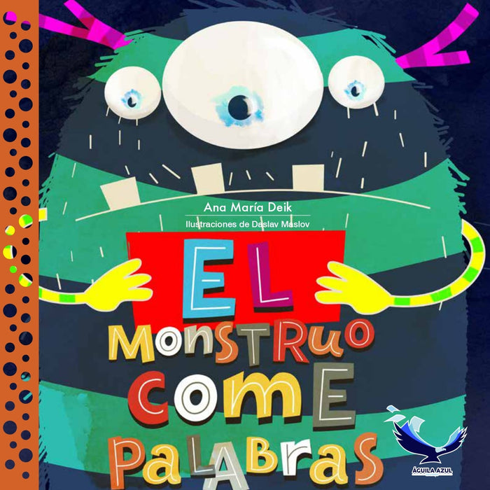 book cover shows a fuzzy monster