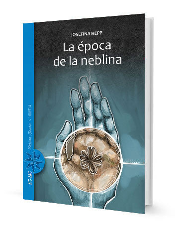 book cover illustrates hand holding brown circle