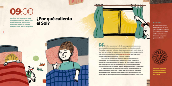 inside pages show kids being woken up in bed
