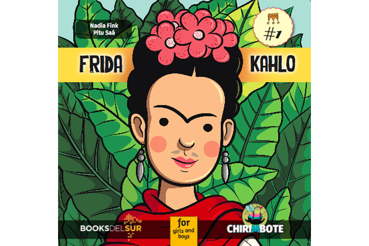 Book cover depicting an illustration of Frida Kahlo
